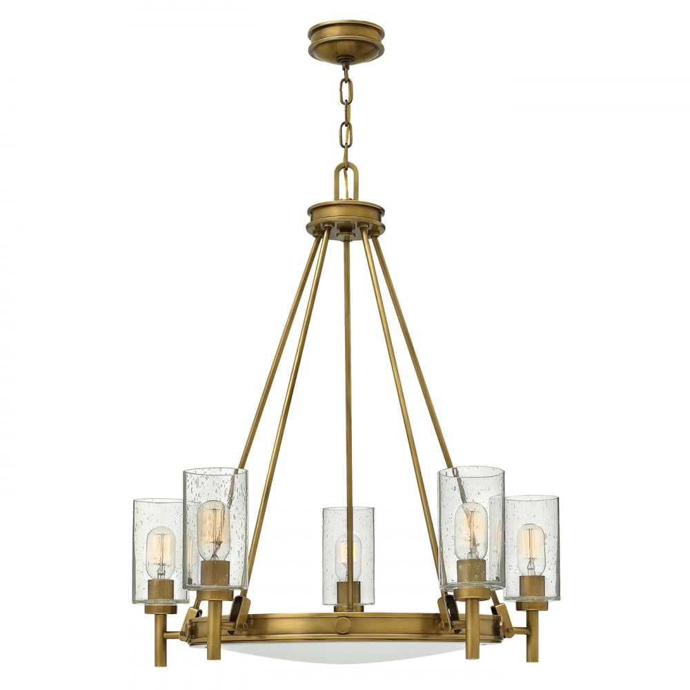 Hinkley lighting hinkley lighting collier 5 light chandelier collier 5 light chandelier heritage brass aloadofball Gallery