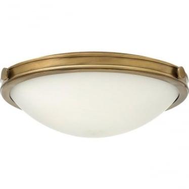 Collier Medium Flush Ceiling Heritage Brass