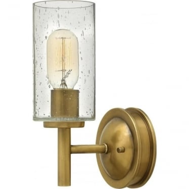 Collier Single Wall Light Heritage Brass