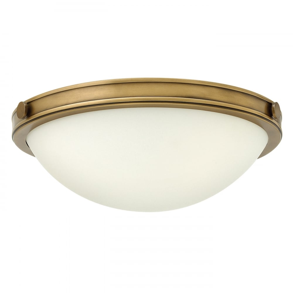 Collier Small Flush Ceiling Light Heritage Brass