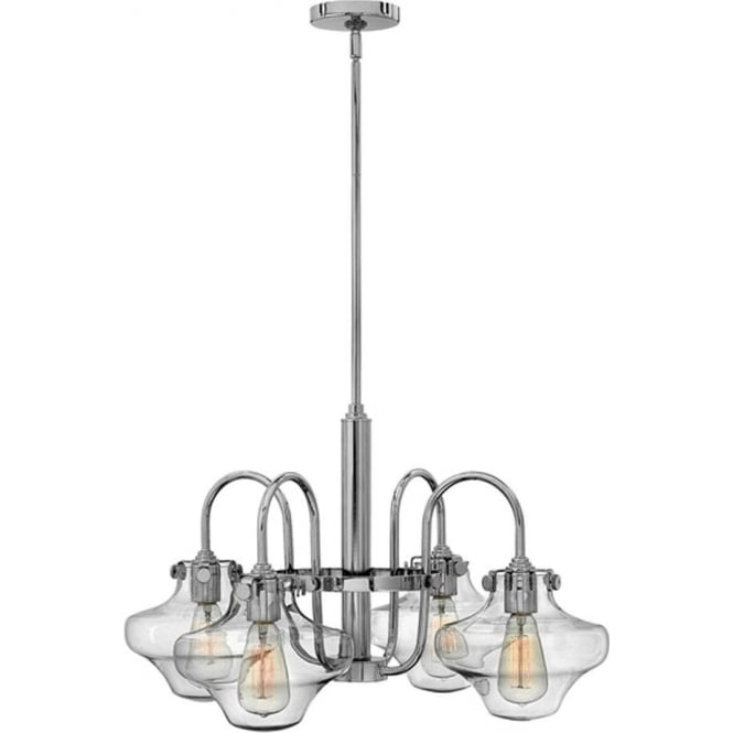 Hinkley Lighting Congress Clear Glass Chandelier Chrome