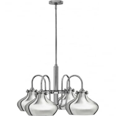 Congress Metal Shade Chandelier Chrome
