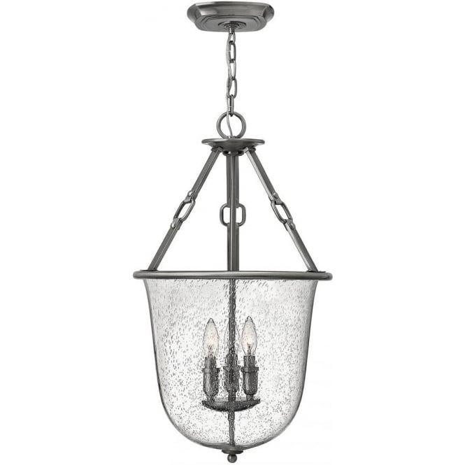 Hinkley Lighting Dakota 3 Light Pendant Polished Antique Nickel