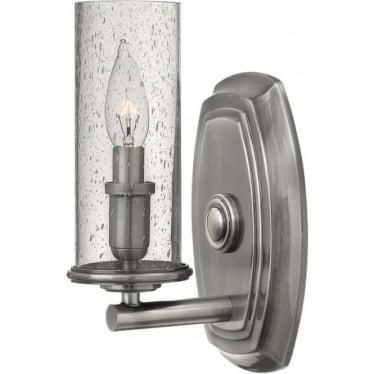 Dakota Single Wall Light Polished Antique Nickel