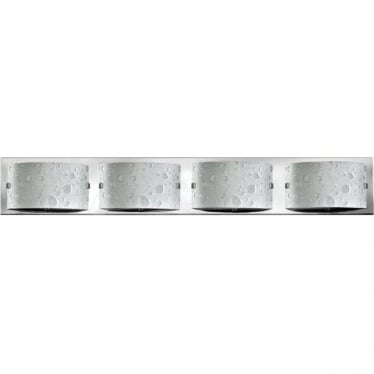 Daphne 4 Light Bathroom LED Wall Light IP44 Polished Chrome