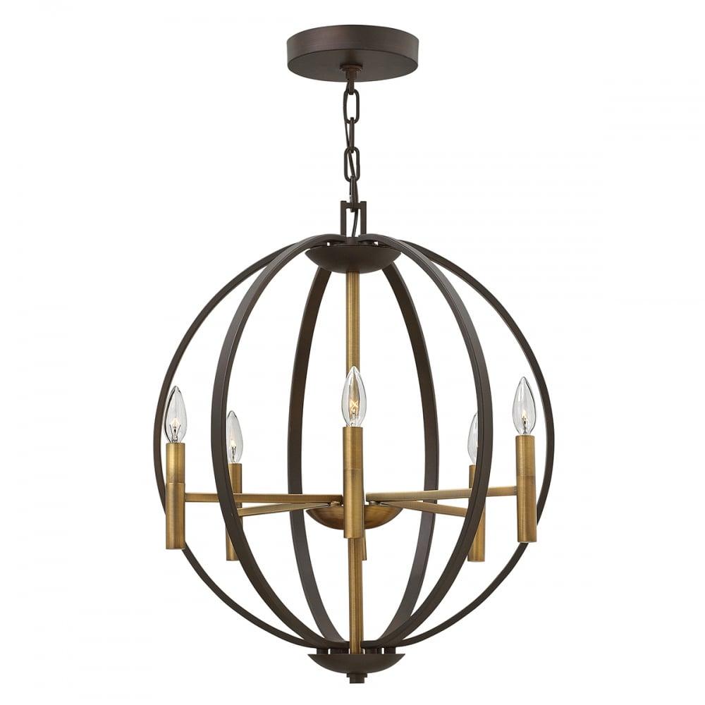 Hinkley lighting hinkley lighting euclid 6 light pendant chandelier euclid 6 light pendant chandelier spanish bronze aloadofball Images