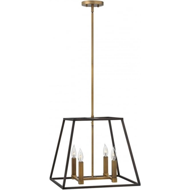 Hinkley Lighting Fulton 4 Light Pendant Chandelier Bronze
