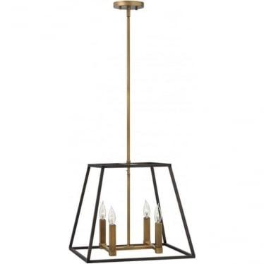 Fulton 4 Light Pendant Chandelier Bronze
