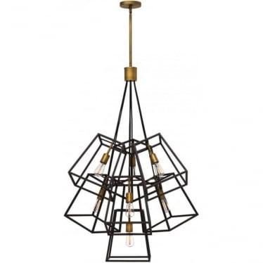 Fulton 7 Light Chandelier Bronze