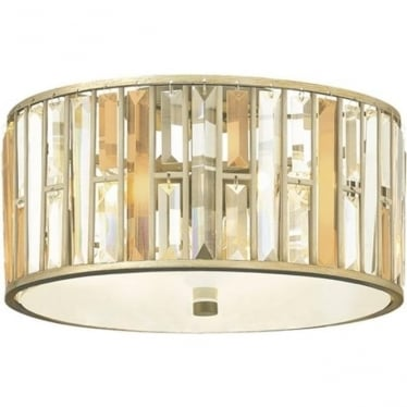 Gemma Flush Mount Fitting - Silver Leaf