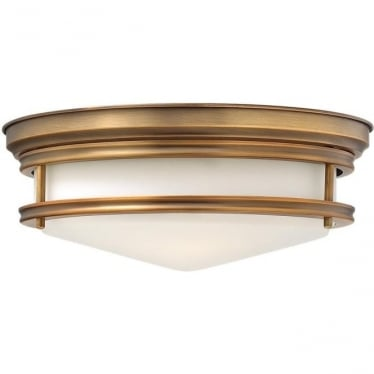 Hadley Flush Mount Fitting Brushed Bronze