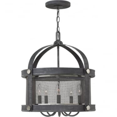 Holden 5 light Chandelier Aged Zinc