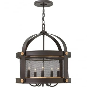 Holden 5 light Chandelier Buckeye Bronze