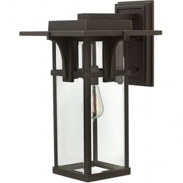 Manhattan large wall lantern - Bronze