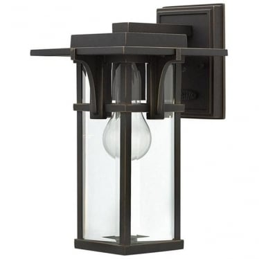 Manhattan small wall lantern - Bronze