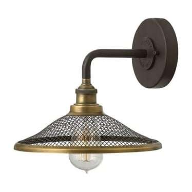 Rigby Single Wall Light Buckeye Bronze