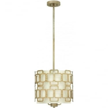 Sabina 3 Light Pendant Silver Leaf