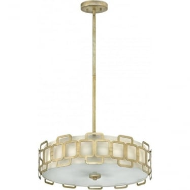 Sabina 4 Light Pendant Silver Leaf