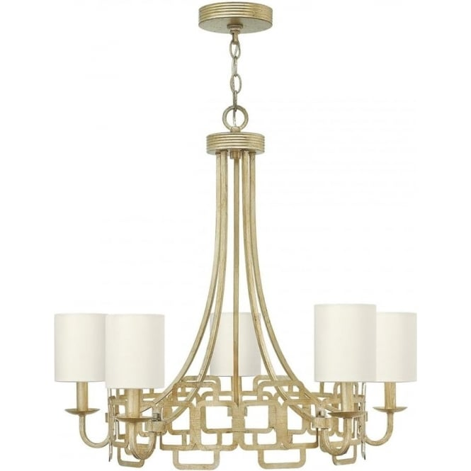 Hinkley Lighting Sabina 5 Light Chandelier Silver Leaf