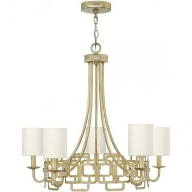Sabina 5 Light Chandelier Silver Leaf
