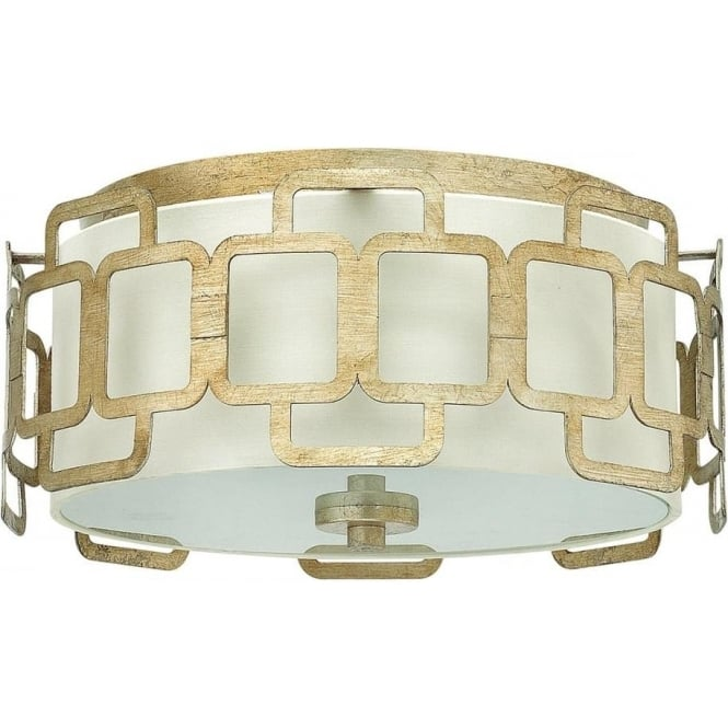 Hinkley Lighting Sabina Flush Mount Ceiling Light Silver Leaf