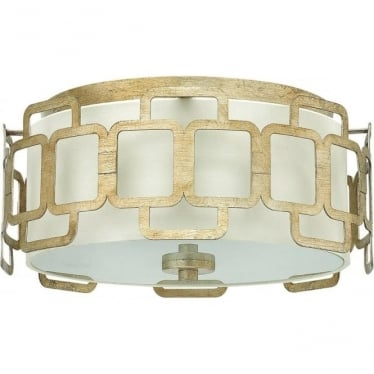 Sabina Flush Mount Ceiling Light Silver Leaf