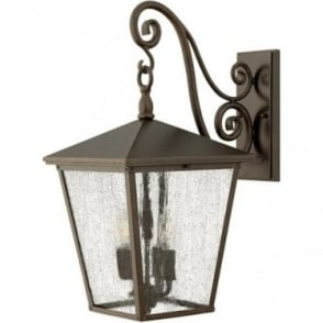 Trellis large wall lantern - Bronze
