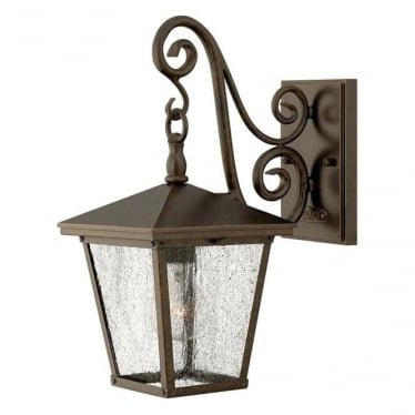 Trellis small wall lantern - Bronze
