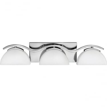 Verve 3 Light Bathroom LED Wall Light IP44 Polished Chrome