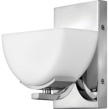 Verve Single Light Bathroom LED Wall Light IP44 Polished Chrome