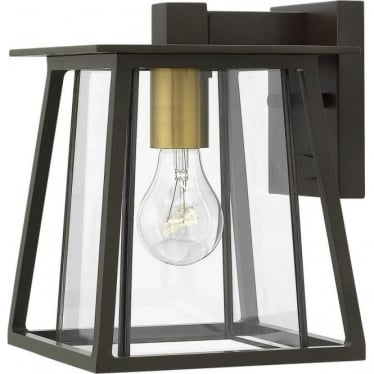 Walker Small Wall Lantern Buckeye Bronze
