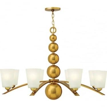 Zelda 8 Light Chandelier Vintage Brass