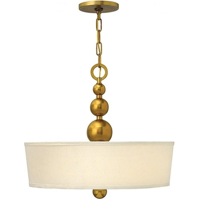 Hinkley Lighting Zelda Pendant Chandelier Vintage Brass