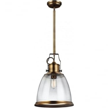 Hobson Large Pendant Aged Brass
