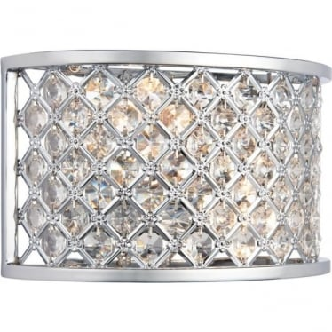 Hudson 2 light wall fitting - Chrome plate