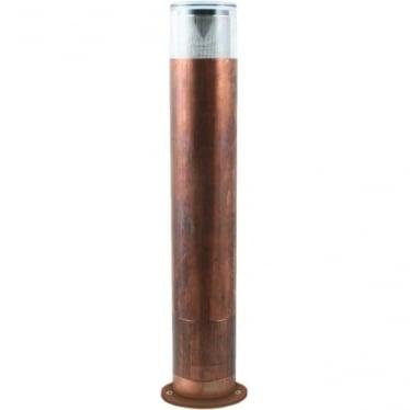 Bollard 300mm (90mm flange) - copper - Low Voltage