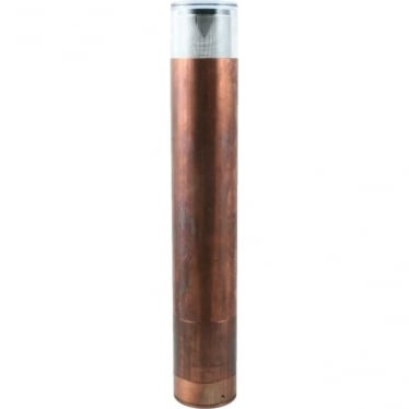 Bollard 700mm GU10 (flange) - copper- MAINS
