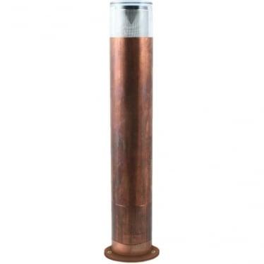 Bollard 700mm Retro (90mm flange )(230V Mains) - copper- MAINS