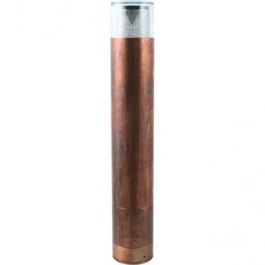 Bollard 700mm Retro (flange)(230V Mains) - copper- MAINS