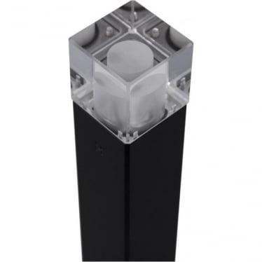Cube Bollard Quartz (flange) - Powder coat colours - Low Voltage