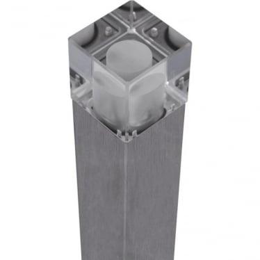 Cube Bollard Quartz (flange) - stainless steel - Low Voltage