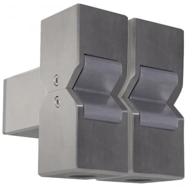 Cube Pillar Light Dual Mount Adjustable - stainless steel - Low Voltage