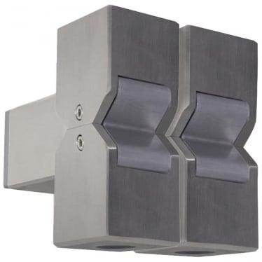 Cube Pillar Light Dual Mount Adjustable - stainless steel
