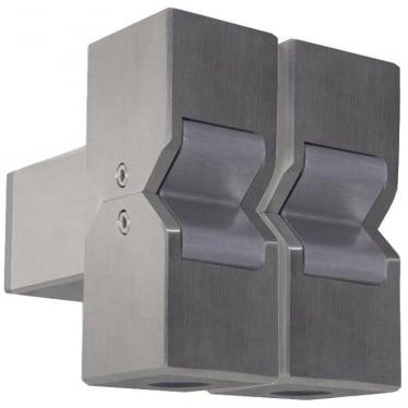 Cube Pillar Light Dual Mount Fixed - stainless steel