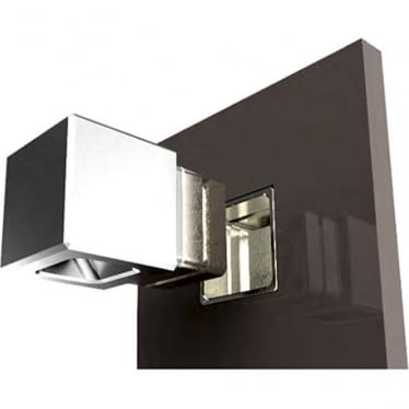 Cube Recessed Cloak - stainless steel