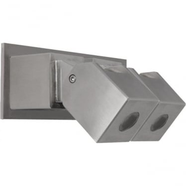 Cube Wall Light Dual Mount Adjustable - stainless steel - Low Voltage