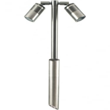 Euro Twin Pole Light Retro - stainless steel- MAINS