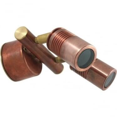 Euro Twin Wall Spot Retro (230V Mains) - copper