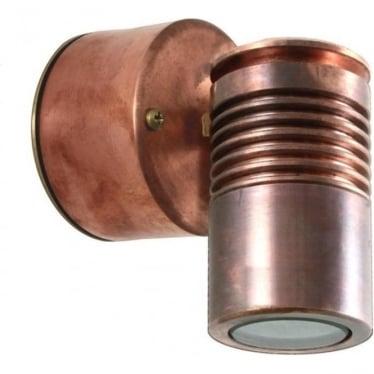 Euro Wall Down Light Retro (230V Mains) - copper