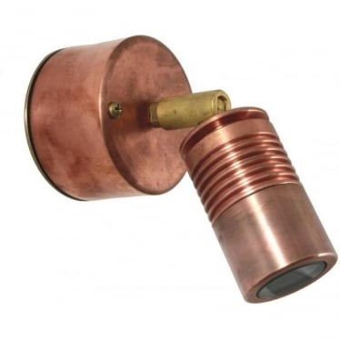 Euro Wall Spot Retro (230V Mains) - copper